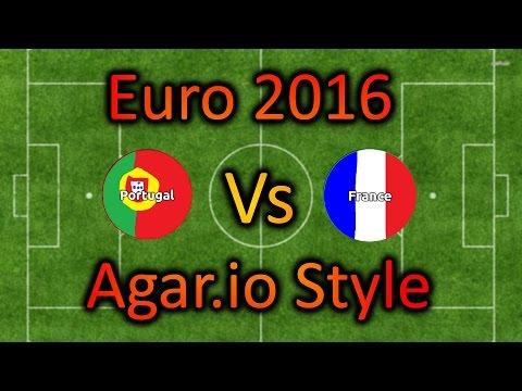 Portugal Vs France Euro 2016 - Agar.io Style