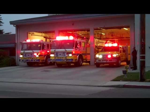 VCFD Battalion 4 in Simi, Station 41 rolling out on 9/11