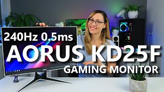 The First Next-Gen 240Hz 0,5ms Monitor is Here! Aorus KD25F Review