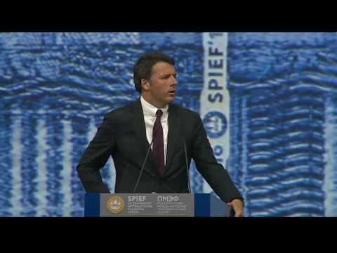 """L'intervento di Renzi al """"Forum economico internazionale"""" (17/06/2016)"""