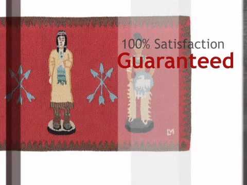 Cigar Store Indians Hooked Wool Rug - lonestarwesterndecor.com