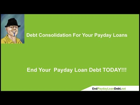 Debt Consolidation For Payday Loan