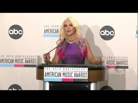 The Voice Star Christina Aguilera at AMAs Nominations Press Conference 2