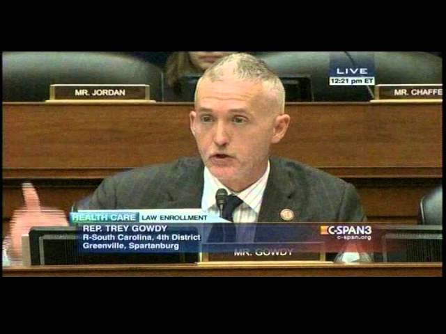 Rep Trey Gowdy to Gruber 'you sure make a lot of STUPID comments'