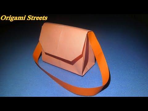 Как сделать из бумаги сумку с клея