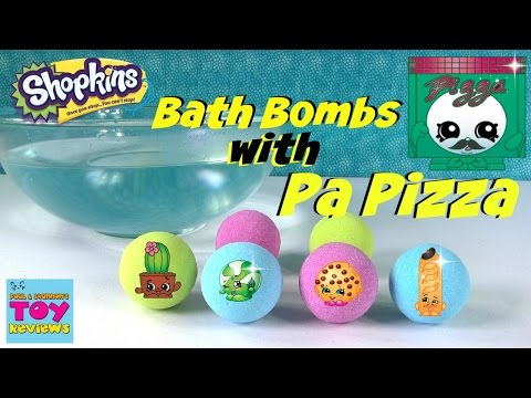 Shopkins Bath Bombs With PA PIZZA Fizzies   Let's Play   PSToyReviews