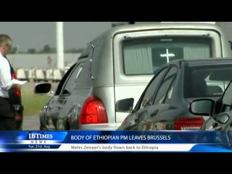 Body of Ethiopian PM leaves Brussels