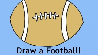 Free Drawing Lesson How To Draw A Football For Beginners