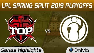 TOP vs IG Highlights All Games LPL Spring 2019 Playoffs TopSports Gaming vs Invictus Gaming LPL High