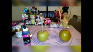 How To Make Tuxedo Candy Apple/ Matching Barbie Apple