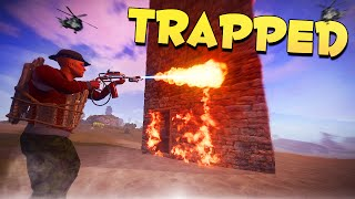 TRAPPED! - Rust Funny Moments and Trolling!