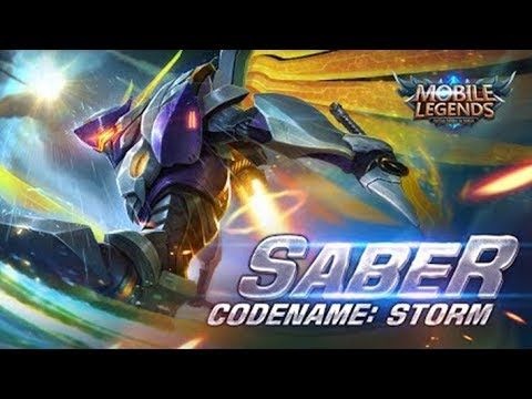 Mobile Legends - Saber New Skin Codename: Storm First Look