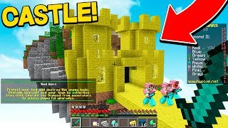 BUILDING WORLD'S BIGGEST CASTLE IN MINECRAFT BED WARS! (MINECRAFT EDUCATION EDITION)