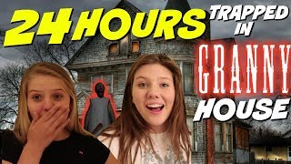 24 HOURS OVERNIGHT CHALLENGE IN GRANNY'S HOUSE || Taylor and Vanessa