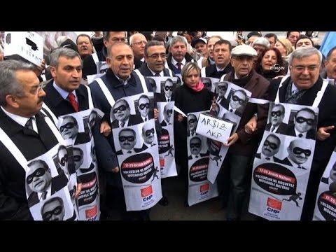 Protest marks anniversary of Erdogan ministers corruption probe