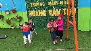 TRƯỜNG MẦM NON HOÀNG VĂN THỤ - LẠNG SƠN | Khu sân chơi cho trẻ | Nhạc thiếu nhi remix vui nhộn