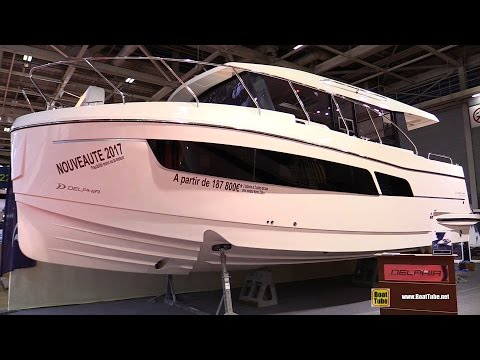 2017 Delphia Escape 1150 V Motor Yacht - Deck and Interior Walkaround - 2016 Salon Nautique Paris