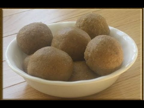 Recipe - Mugz Ladoo (Wheat Flour Sweet) Recipe With English Subtitles