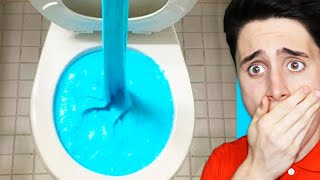 REACTING TO WILL IT FLUSH EXPERIMENT!!!