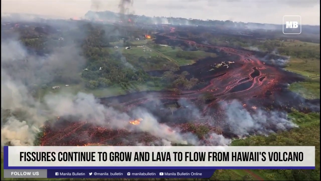 Fissures continue to grow and lava to flow from Hawaii's volcano