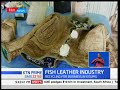 Kisumu man makes leather from fish skin