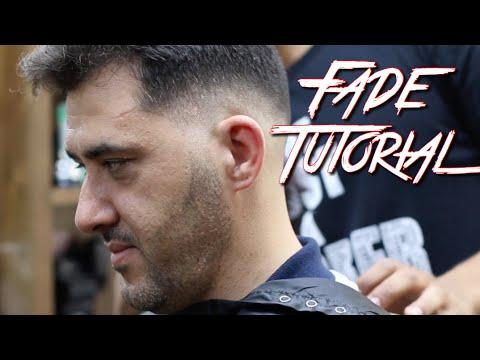 Tutorial! Mens Fade Haircut I did while in Romania Barber Shop!
