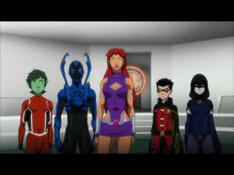 Киборг вступает в команду Титанов (Лига справедливости против Юных титанов 2016)
