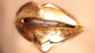 Dripping Golden Lips
