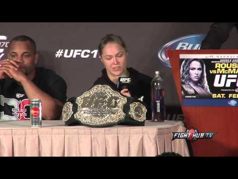 UFC 170 Rousey vs McMann post fight press conference highlights