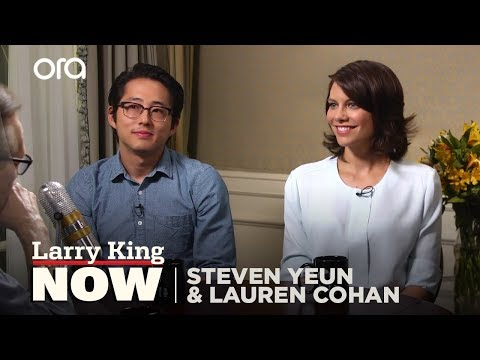The Walking Dead Stars On Filming Sex Scenes | Larry King Now - Ora TV