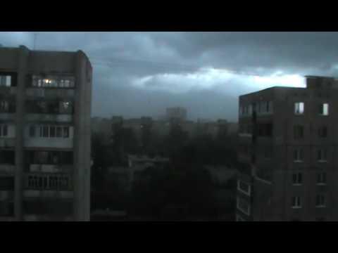Ураган в городе Орле 18 июля 2016 года Время 19 часов 25 минут Город Орёл