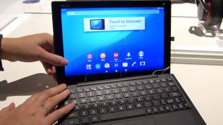 Xperia Z4 Tablet and Keyboard dock hands-on feat. Nicole