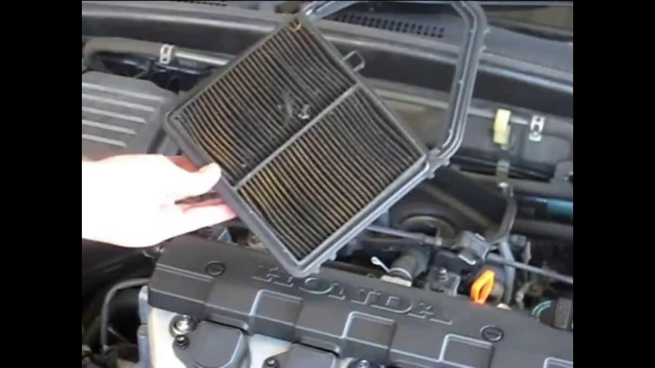 honda civic  air filter change youtube