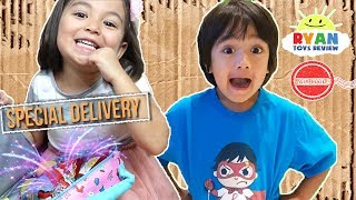 I MAILED MYSELF TO RYAN TOYSREVIEW to get *NEW* Ryan's World Toys by Bonkers and It Worked! (Skit)