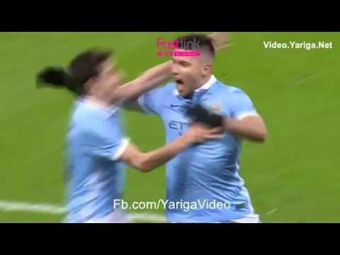 Manchester City 3 - 1 Everton Sergio Aguero 27/1/2016