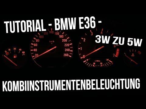 Tutorial - BMW E36 - Kombiinstrumentenbeleuchtung 3W zu 5W