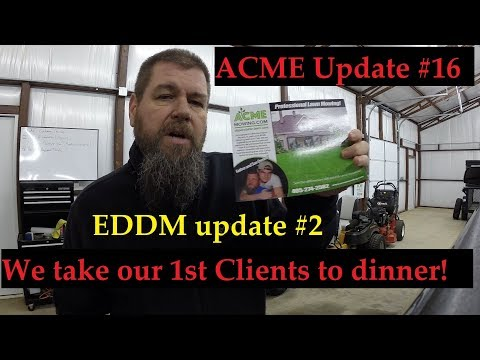 #16 Starting a Lawn Care Business - Clients and EDDM mailer update #2