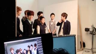[120915] EXO-K BTS Photoshoot for IVYclub  - Welcome to the IVYclub