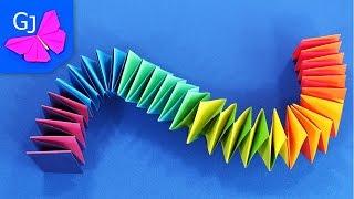 Змейка из бумаги
