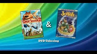 DVD Unboxing on Open Season 2 and Jonah a VeggieTales Movie (US)