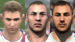 Benzema transformation from FIFA 06 to FIFA 18