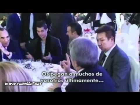 Cristiano Ronaldo vs Cerezo (Atletico Madrid president fight/discussion with CR7)