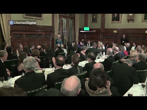 Esperanza Aguirre pronuncia un discurso en la Cámara de los Comunes londinense