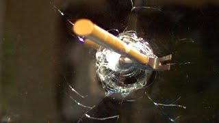 Hammer through Mirror at 120,000fps - The Slow Mo Guys by : The Slow Mo Guys