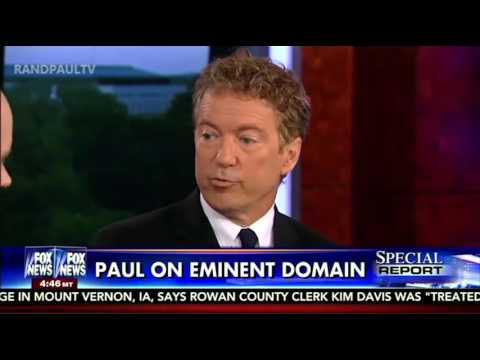 Rand Paul on Special Report w/ Bret Baier Fox News 10/7/15