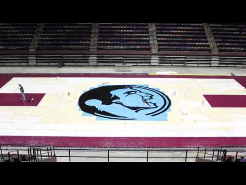 Fsu Basketball Court Time Lapse video