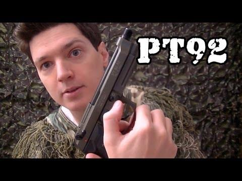 Vendo Airsoft Pistola Taurus PT92 GBB - Legalizada Brasil