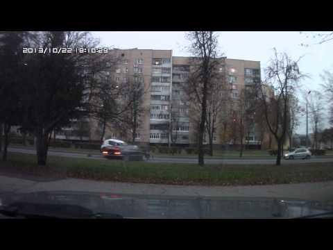 авария на ул. Поповича в Гродно