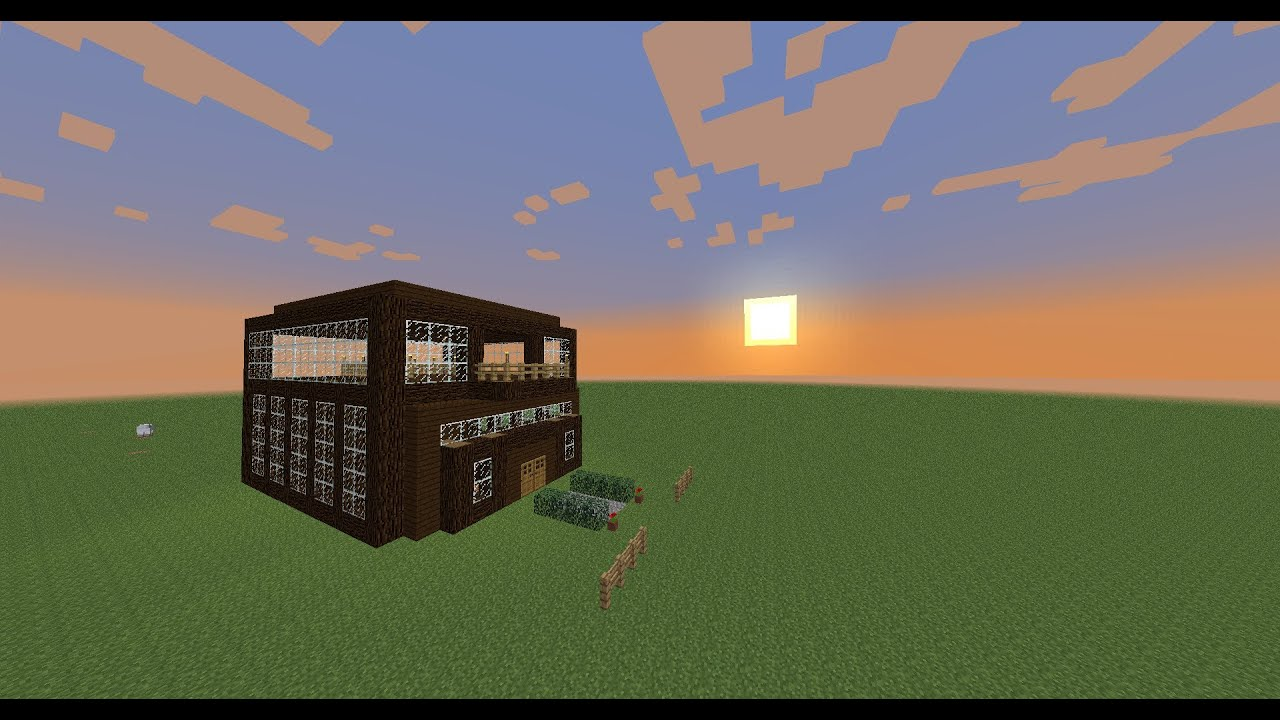 Minecraft building designs 1 lots of windows youtube for Window design minecraft
