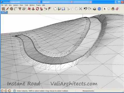 Sketchup Instant Road Create Road From Center Line Youtube